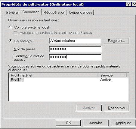 ajouter imprimante pdf creator